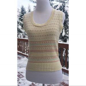 Pristine. Vintage Fair Isle Sleeveless Sweater XS
